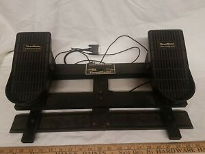 Thrustmaster Rudder Control Pedals Vintage PC Gaming Joystick Port