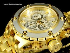 NEW Invicta 52MM Specialty Subaqua White Dial GoldTone Blk Bezel Bracelet Watch