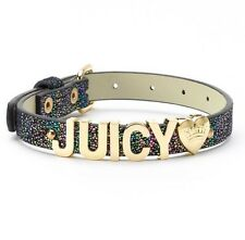 """Limited Edition Juicy Couture Logo Iridescent Pet Dog Collar - Neck 10-13.5""""s"""