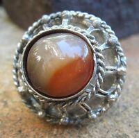 beduinen ring handmade aus marokko tibetsilber achat  sinnlich schön 8