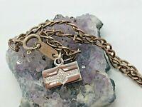 """Vintage Sterling Silver Simple Charm Bracelet 6.75"""""""