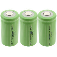 3x Exell 1.2V 5000mAh NiMH C Size Rechargeable Flat Top Batteries FAST USA SHIP