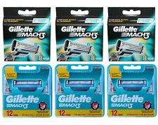 60er Gillette Mach3 Rasierklingen aus 3x 12er = 36 + 3x 8er = 24 Klingen in OVP