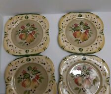 Set of 4 Certified International La Toscana Dinner Plates by Pamela Gladding
