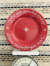 """THE ORIGINAL RED PLATE """" YOU ARE SPECIAL TODAY """" Made in Germany - EUC"""