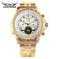 Luxury Jaragar Tourbillon Design Mens Watches Mechanical Automatic Wrist Watch
