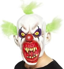 Halloween Fancy Dress SINISTRE Clown Maschera con Capelli Verdi Nuovi Da Smiffys
