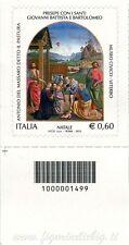 2012 francobollo Natale Religioso SX BARRE 1499