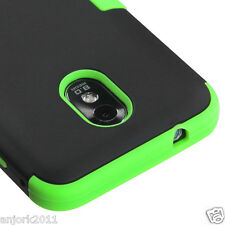 Samsung Galaxy S2 4G Sprint Boost T Armor Hybrid Case Skin Cover Black Green