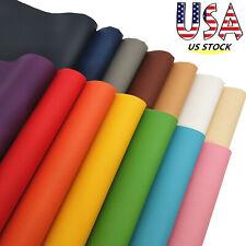 14pcs Rainbow Series Litchi Faux PU Leather Fabric Sheets Vinyl Bundle US STOCK