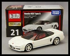 TOMICA PREMIUM 21 Honda NSX Type R 1/60 TOMY DIECAST CAR NEW WHITE
