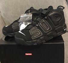 Supreme x Nike Air More Uptempo Suptempo Triple Black Size 8 902290-001
