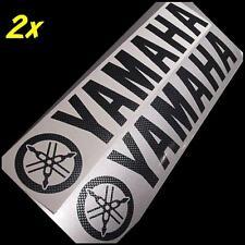 Yamaha CARBON FIBER 8.25in 21cm decals stickers r6 fz1 r1 FZ07 Majesty Stryker