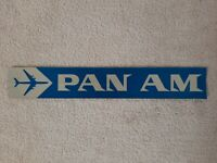 PAN AM unused BUMPER STICKER early 1960s VINTAGE airlines Scarce RETRO