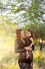 Black Lace Maternity Gown Long Sleeve Lace Maternity Dress Maternity Photography