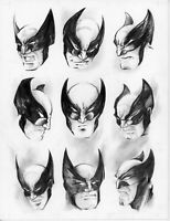 Wolverine ORIGINAL PENCIL ART Sketch card drawing comic ACEO Parrish marvel film