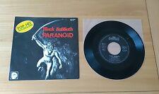 "Black Sabbath Paranoid 1981 German 7"" Single INT 110.604 A1 B1 Heavy Metal Rock"