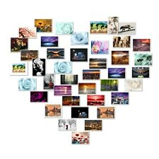 """YOUR PHOTO ART OR PICTURE IMAGE ON CANVAS - IN HEART COLLAGE 40 PHOTOS 16"""" x 20"""""""