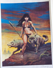 DON MARQUEZ signed Print, VF/NM, She-wolf with Wolves, 2001, Spear,more in store