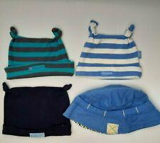PUMPKIN PATCH Baby Boy Knot Beanie Hat Blue Stripe 4 Bundle Lot - Size OSFA