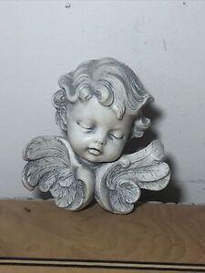 Vintage Fontanini Depose Italy Boy Angel Cherub Wall Plaque Figurine Ornament