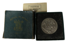 More details for 1951 king george vi festival of britain boxed crown coin - great britain