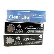 NEW SEALED Icona Skin Care Tool (.25mm) Derma Roller - Set of 2 w/ Bonus Roller