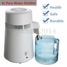 4L Water Pure Distiller Dental Medical Purifier 304 Stainless Steel In/External