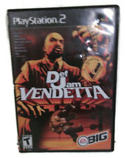 Def Jam Vendetta. Black Label Game & Case (Sony PlayStation 2 PS2 2003) B-A