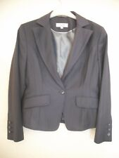 LADIES GREY PIN STRIPE JACKET FROM NEXT PETITE RANGE SIZE 12