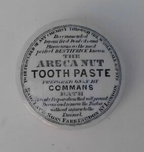 COMMANS - ARECA NUT TOOTHPASTE - BATH POT-LID IN VERY GOOD CONDITION