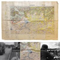WWII Rare Army Captured German 'Battle of the Scheldt' Antwerpen' Map WW2 Relic