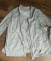 NWT 2 Piece Terra & Sky Women's Plus Size 3X Sweater Cardigan & Tank Top Gray