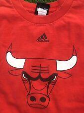 "Chicago Bulls~Red Large Size 14 Boy's adidas ""Benny the Bull"" Shirt #1 NBA"