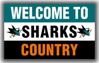 San Jose Sharks Flag Welcome to SHARKS Country 90x150cm3x5ft Hockey Best Banner