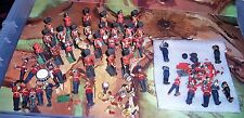 job lot of Britains Eyes Right Scots Guards Bandsmen many parts & bits for spare