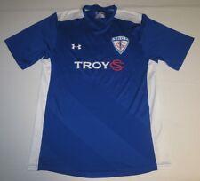 Mens Under Armour Heatgear Loose Troy Short Sleeve Shirt Medium Md Blue White