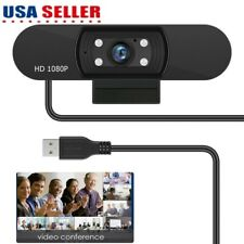 1080P Usb Web Cam Pc Laptop Clip-on Web Camera with Mic & Led for Video Calling