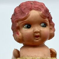 Vintage Celluloid Carnival Prize Japan Kewpie Doll Crepe Paper Strung Arms