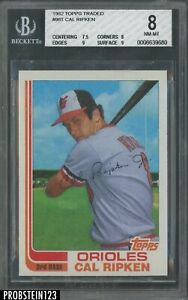 1982 Topps Traded #98T Cal Ripken Jr. Baltimore Orioles RC Rookie HOF BGS 8