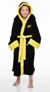 ROCKY BALBOA BOXING Fleece Hooded Dressing Gown Bath Robe (Child Sizes)