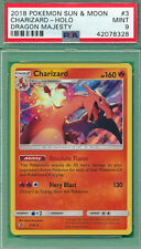PSA 9 MINT CHARIZARD DRAGON MAJESTY HOLO 2018 SUN MOON PM #3 POKEMON FIERY BLAST