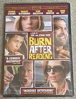 Burn After Reading (DVD, 2008) George Clooney Brad Pitt  Sealed New!!