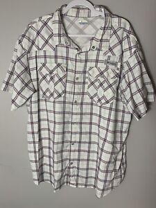 Columbia PFG Men's XXL Multicolor Short Sleeve Collared Neck Button Up Shirt