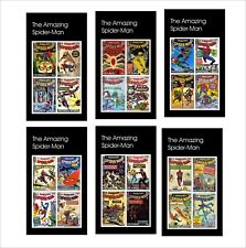 THE AMAZING SPIDER MAN  MARVEL SUPERHEROES 10 SOUVENIR SHEETS MNH UNPERFORATED