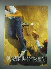 1988 Bugle Boy Men Clothes Ad - Baseball