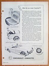 MAGAZINE AD ~ 1955 CORVETTE ~ SPORTS ILLUSTRATED ~ MARCH 1955