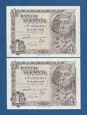 ESPAÑA // SPAIN -- PAREJA 1 PESETA ( 1948 ) -- EBC- // aXF  -- SIN SERIE .