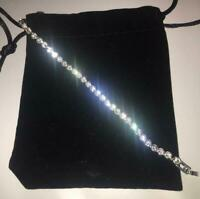 Womens Swarovski Crystal Element Bracelet Bangle Silver Bargain Shine New Gift