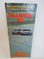 VTG Alabama Intl Motor Speedway TALLADEGA 500 August 1980 Ticket Brochure Ad